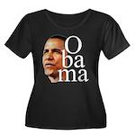 Obama ! Women's Plus Size Scoop Neck Dark T-Shirt