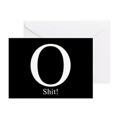 O Shit! Greeting Cards (Pk of 10)