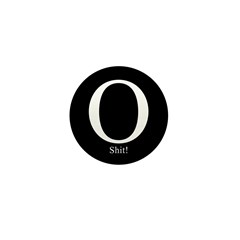O Shit! Mini Button (10 pack)