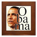 Obama ! Framed Tile