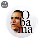 """Obama ! 3.5"""" Button (10 pack)"""