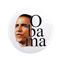 """Obama ! 3.5"""" Button"""