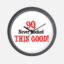 90 never looked this good Wall Clock