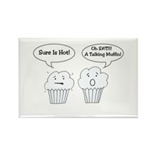Talking Muffin Rectangle Magnet