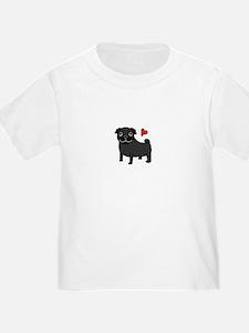 Black Pug Love T