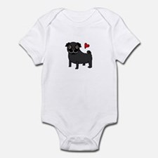 Black Pug Love Onesie