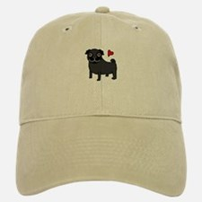 Black Pug Love Baseball Baseball Cap