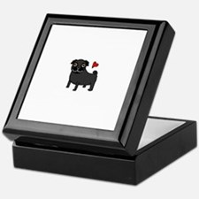 Black Pug Love Keepsake Box