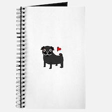 Black Pug Love Journal
