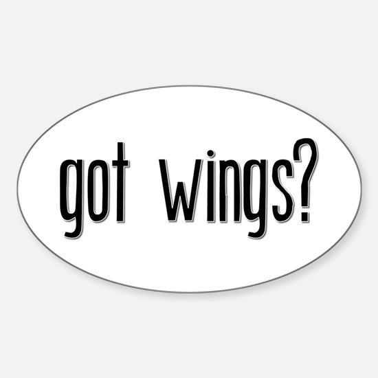 Got Wings? Oval Decal