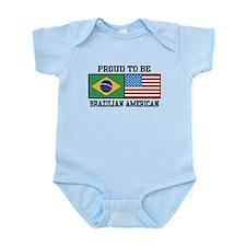 Proud Brazilian American Infant Bodysuit