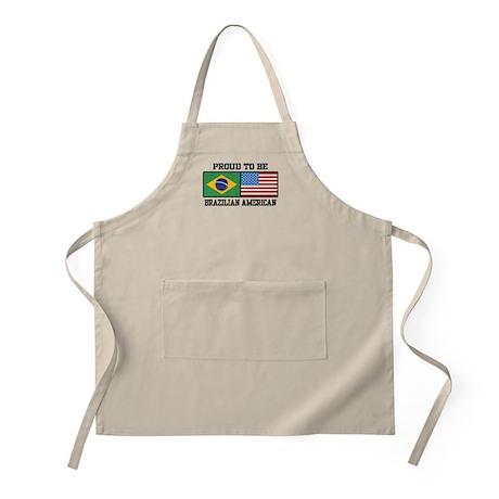 Proud Brazilian American BBQ Apron
