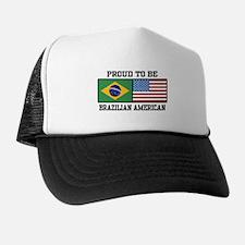 Proud Brazilian American Trucker Hat