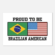 Proud Brazilian American Postcards (Package of 8)