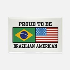 Proud Brazilian American Rectangle Magnet