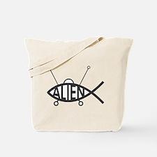 Darwin Alien Fish Tote Bag