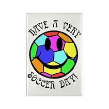 Soccer Day Rectangle Magnet