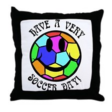 Soccer Day Throw Pillow