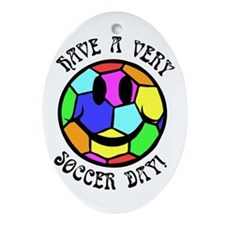 Soccer Day Oval Ornament