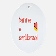 Arianna the Heartbreaker Oval Ornament