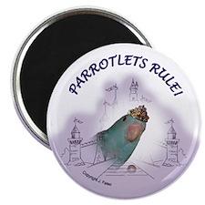 Parrotlets Rule! Blue Female Magnet
