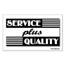 Service plus Quality Rectangle Decal