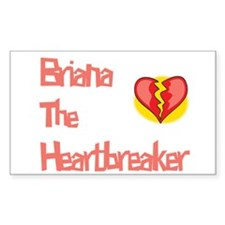 Brianna the Heartbreaker Rectangle Decal