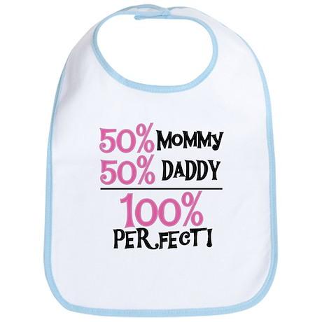 100 Percent Perfect (pink) Bib