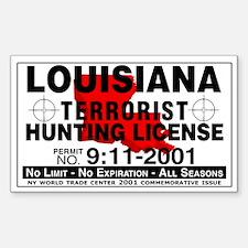 Louisiana Terrorist Hunting Permit Decal