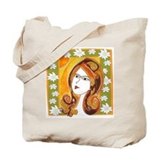 Lady Spring Tote Bag