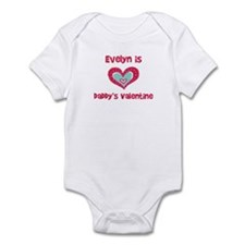 Evelyn Is Daddy's Valentine Infant Bodysuit