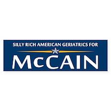 Geriatrics For McCainBumper Bumper Sticker