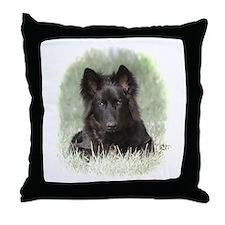 Long Coated German Shepherd Throw Pillow