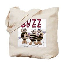 Bees Buzz Tote Bag