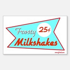 Frosty Milkshakes Rectangle Decal