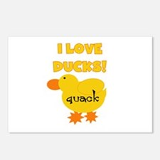 I Love Ducks Postcards (Package of 8)