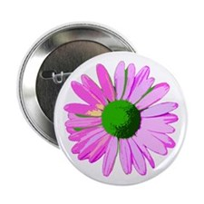 """Pink Daisy 2.25"""" Button (10 pack)"""