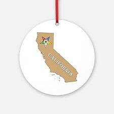 California OES Ornament (Round)