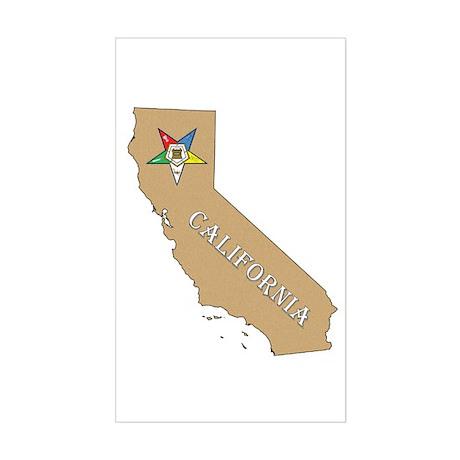 California OES Rectangle Sticker