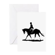 Hunt Seat Quarter Horse Greeting Card