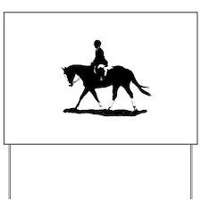 Hunt Seat Quarter Horse Yard Sign