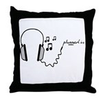 plugged in... Throw Pillow