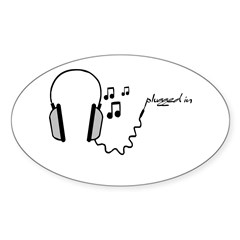 plugged in... Oval Sticker (10 pk)