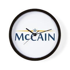McCain For President Wall Clock
