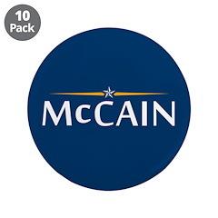 "McCain For President 3.5"" Button (10 pack)"