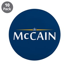 "McCain For President 3.5"" Button (10 pack)"
