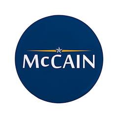 "McCain For President 3.5"" Button"