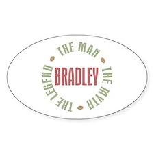 Bradley Man Myth Legend Oval Decal