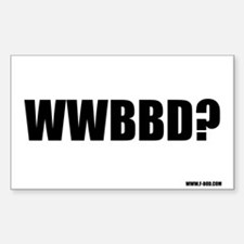 WWBBD? Rectangle Decal