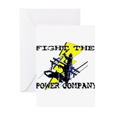 Fight The Power Company! Greeting Card